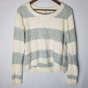 Lauren Conrad Fuzzy Striped Pullover Sweater